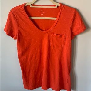 Caslon round v-neck tee shirt, size small